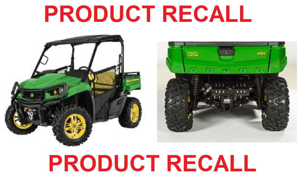 John Deere recalls vehicles due to crash hazard